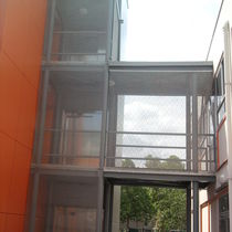 Wire facade mesh / stainless steel / twisted