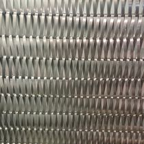 Wire interior fitting mesh / for facades / stainless steel / twisted