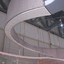 Wire facade mesh / for interior fittings / solar shading / for ceilings