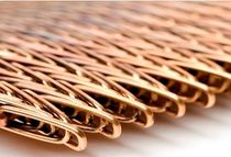 Wire facade mesh / for interior fittings / for ceilings / for walls