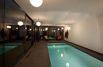 In-ground swimming pool / concrete / outdoor / indoor