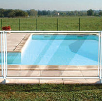 Protective barrier / fixed / glass / pool