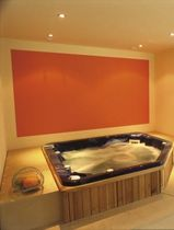 Built-in hot tub / corner / 3-seater