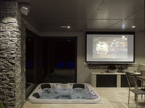 Built-in hot tub / square / 5-seater