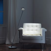 Floor-standing lamp / contemporary / aluminum / glass