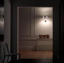 Contemporary wall light / glass / aluminum / brass
