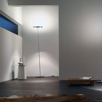 Floor-standing lamp / contemporary / aluminum / steel