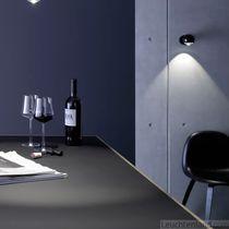 Contemporary wall light / round / glass / aluminum