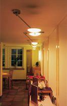 Contemporary ceiling light / round / metal / halogen