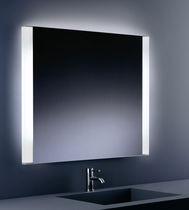 Wall-mounted bathroom mirror / illuminated / contemporary / square