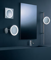 Contemporary wall light / for bathrooms / square / steel