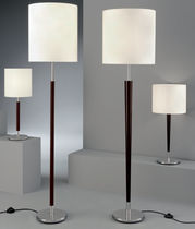 Floor-standing lamp / contemporary / fabric / white
