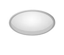 Recessed ceiling light fixture / LED / round / square