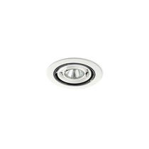 Recessed ceiling spotlight / indoor / halogen / round