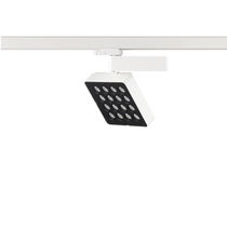 LED track light / square / cast aluminum / commercial