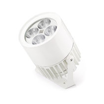 Wall-mounted spotlight / outdoor / LED / round