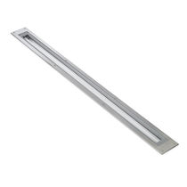 Recessed floor light fixture / compact fluorescent / linear / outdoor