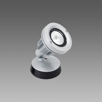 Surface mounted spotlight / outdoor / LED / round