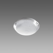 Contemporary ceiling light / round / polycarbonate / compact fluorescent