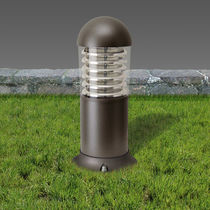 Garden bollard light / contemporary / glass / polycarbonate