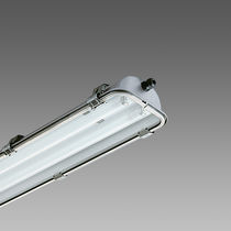 Surface-mounted light fixture / fluorescent / linear / steel