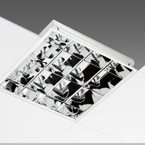 Recessed light fixture / LED / square / aluminum
