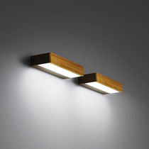 Contemporary wall light / outdoor / glass / wood