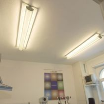 Contemporary ceiling light / linear / plastic / fluorescent