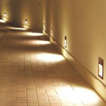Recessed wall light fixture / LED / halogen / HID