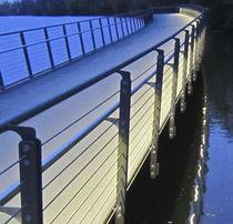 Stainless steel handrail / LED / handicapped