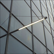 Contemporary wall light / outdoor / stainless steel / polycarbonate