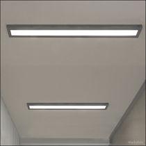 Contemporary ceiling light / linear / aluminum / acrylic glass