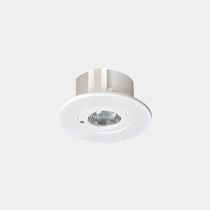 Recessed ceiling emergency light / round / LED / plastic