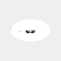 Recessed ceiling emergency light / round / LED / sheet steel