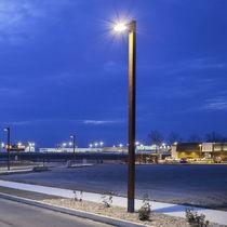 Urban lamppost / contemporary / galvanized steel / wooden