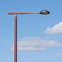 Galvanized steel lamp post arm