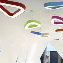 Hanging light fixture / LED / plastic / dimmable