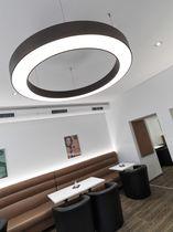 Hanging light fixture / LED / round