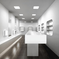 Recessed downlight / LED / compact fluorescent / square