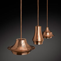 Pendant lamp / contemporary / aluminum / copper
