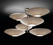 Pendant lamp / contemporary / nickel / polyester