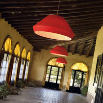 Pendant lamp / contemporary / iron / compact fluorescent