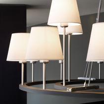 Contemporary chandelier / chrome / cotton / incandescent
