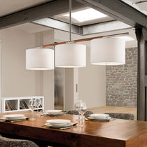 Pendant lamp / contemporary / leather
