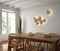 Contemporary wall light / oak / LED / modular