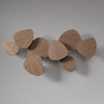 Contemporary wall light / oak / LED / dimmable