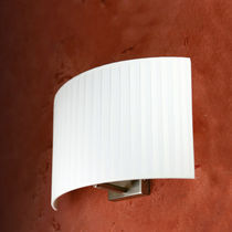 Contemporary wall light / fabric / LED / compact fluorescent