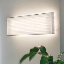 Contemporary wall light / cotton / fluorescent / rectangular