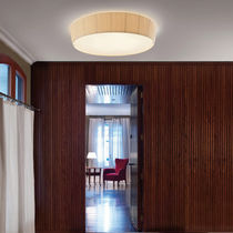 Contemporary ceiling light / round / cotton / LED