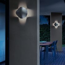 Contemporary wall light / outdoor / polyurethane / LED